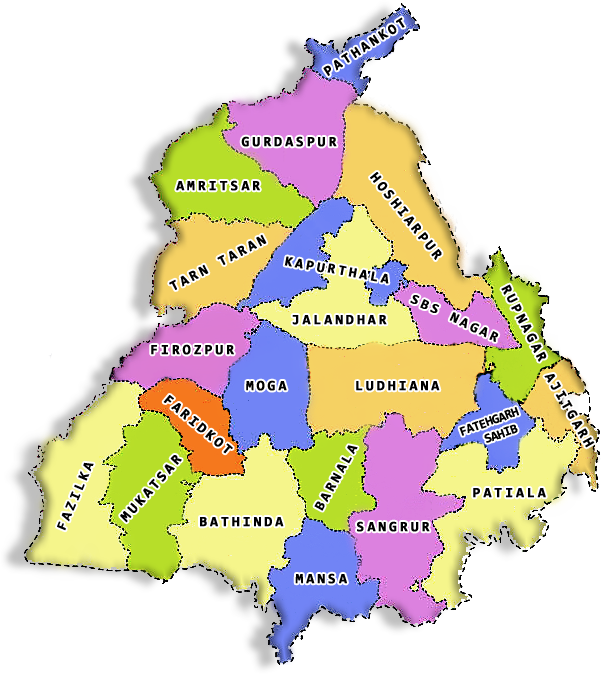 District Map of Punjab